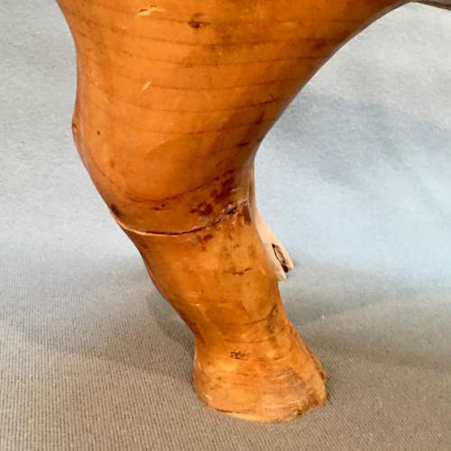 Early 20th Century Rare Solid Pine Pig Statue image-6