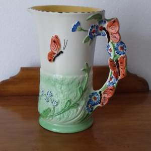 Burleigh Ware Butterflies And Flowers Jug