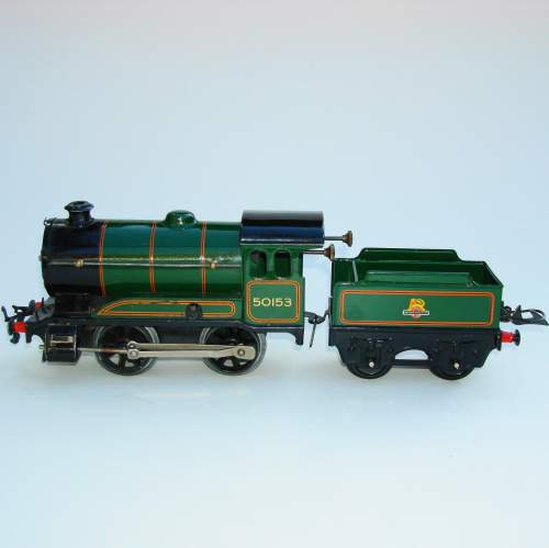 Hornby 0 gauge Locomotive & Tender No 501 and Boxes image-4