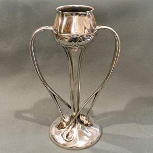 Archibald Knox Liberty and Co Tudric Pewter Stemmed Vase