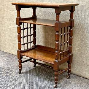 Arts and Crafts Oak Bookstand Attributed to Liberty and Co