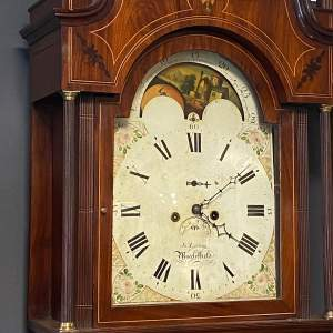 Early 19th Century Inlaid Mahogany Longcase Clock
