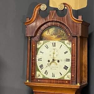 Early 19th Century Oak and Mahogany Longcase Clock