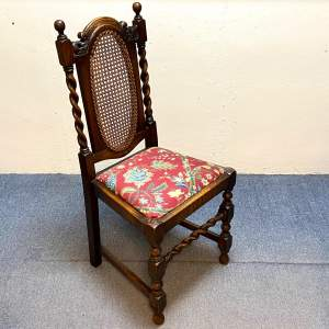 Early 20th Century Oak Barleytwist Chair