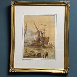 Early 20th Century Frederick William Scarborough Watercolour
