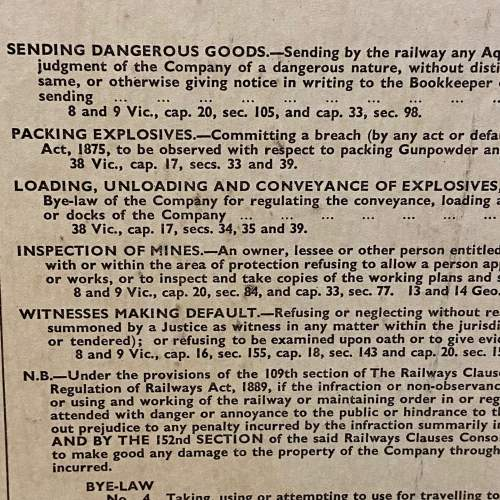 LNER Bye Laws and Regulations October 1936 Sign image-4