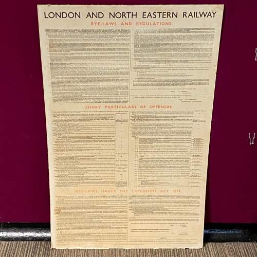 LNER Bye Laws and Regulations October 1936 Sign image-1