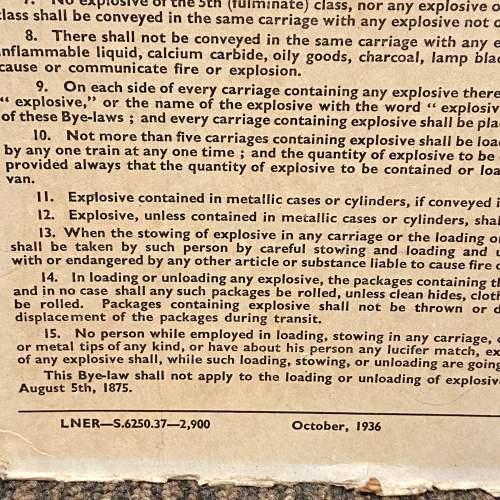 LNER Bye Laws and Regulations October 1936 Sign image-3
