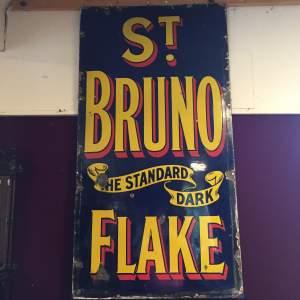 St Bruno Standard Dark Flake Enamel Steel Advertising Sign