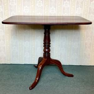 19th Century Mahogany Rectangular Tilt Top Table