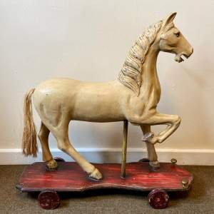 Victorian Childs Horse Toy on Wheels