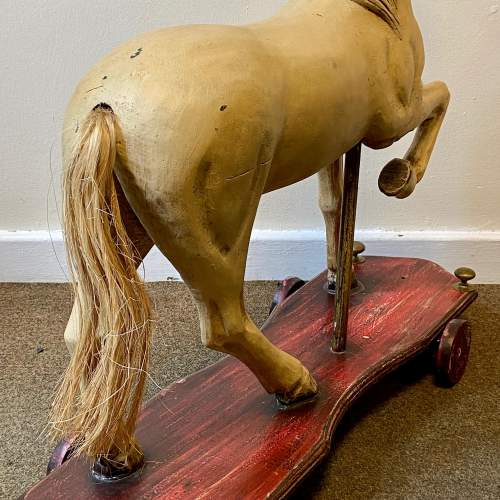 Victorian Childs Horse Toy on Wheels image-5