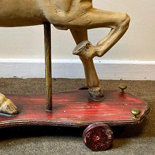 Victorian Childs Horse Toy on Wheels image-6