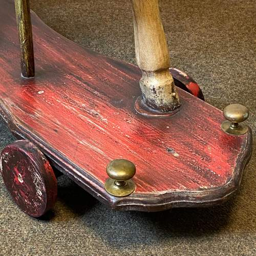 Victorian Childs Horse Toy on Wheels image-4