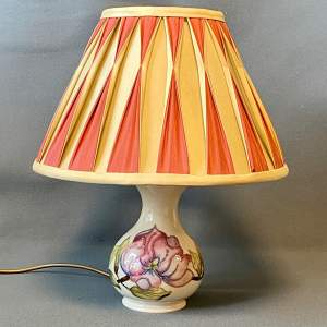 Small Moorcroft Pottery Lamp