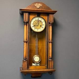 German 19th Century Mahogany Cased Clock