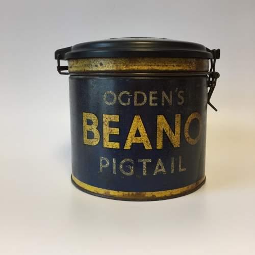 Rare Ogdens Beano Pigtails Cigar Tin with Bakelite Lid image-1