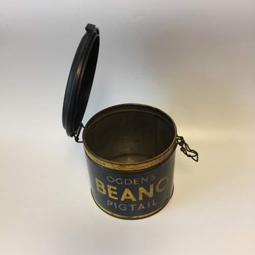 Rare Ogdens Beano Pigtails Cigar Tin with Bakelite Lid image-3