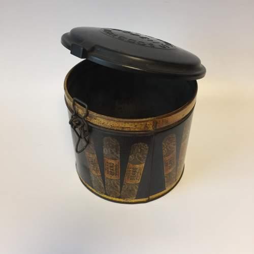 Rare Ogdens Beano Pigtails Cigar Tin with Bakelite Lid image-4