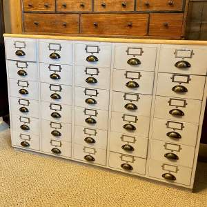 20th Century Painted Vintage 30 Drawer Unit