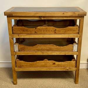 Vintage Pine Slate Top Kitchen Rack
