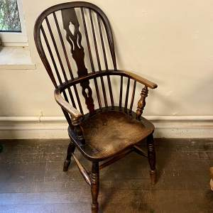 Victorian Ash and Elm High Back Windsor Chair