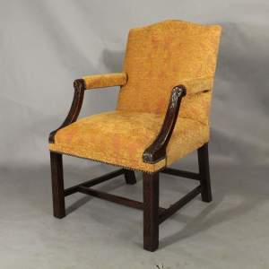 Mahogany Framed Gainsborough Armchair
