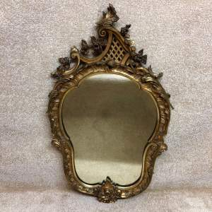 19th Century Gilt Framed Looking Glass Mirror