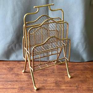 Edwardian Tall Multi Tier Brass Magazine Rack