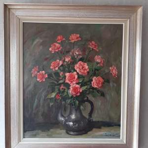 Oil on Canvas Still Life Painting by Juul De Cort