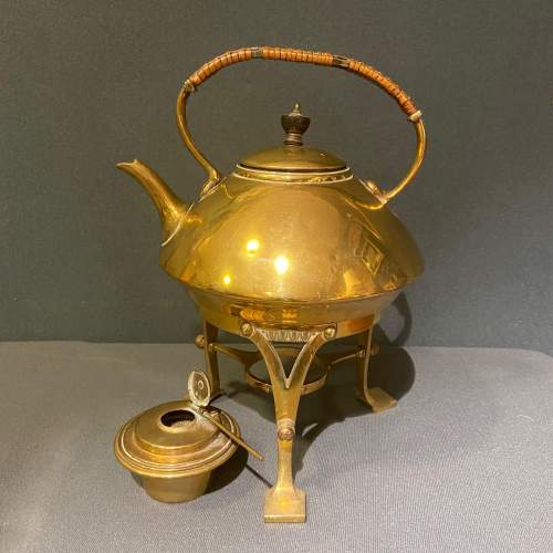 Arts and Crafts Brass Spirit Kettle image-1