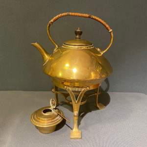 Arts and Crafts Brass Spirit Kettle