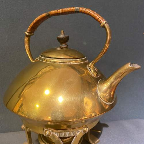 Arts and Crafts Brass Spirit Kettle image-2