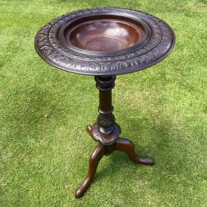 Victorian Mahogany Tripod Table with Unusual Bowl Top