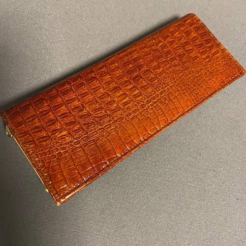 Vintage Crocodile Clutch Bag image-2