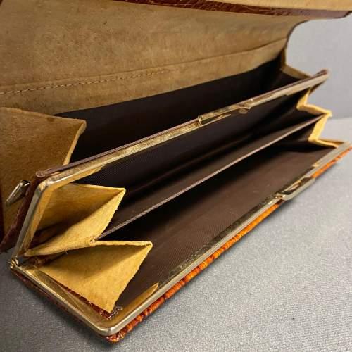 Vintage Crocodile Clutch Bag image-3
