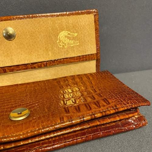 Vintage Crocodile Clutch Bag image-4