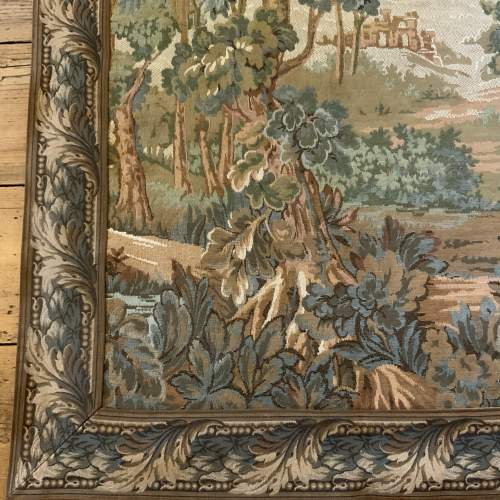 Old Flemish Tapestry Wall Hanging With Foliage Border image-3