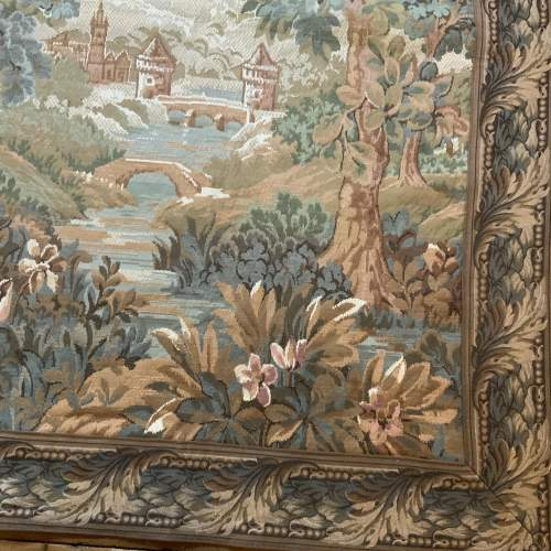 Old Flemish Tapestry Wall Hanging With Foliage Border image-4