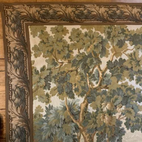Old Flemish Tapestry Wall Hanging With Foliage Border image-5