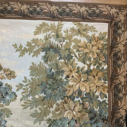 Old Flemish Tapestry Wall Hanging With Foliage Border image-6