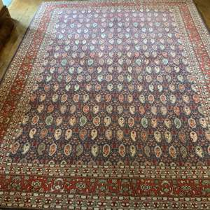Superb Quality Hand Knotted Persian Rug Qum In Repeating Botech