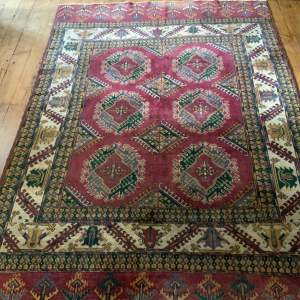 Old Hand Knotted Turkoman Rug Yamut Superb Colours And Design