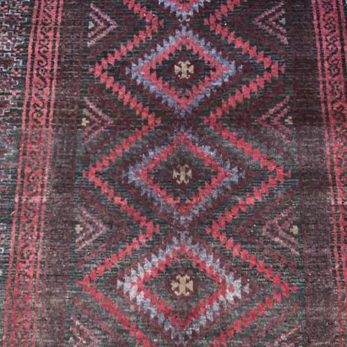 Superb Old Hand Knotted Afghan Rug With Several Abrash Wonderful image-2
