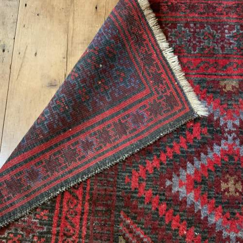 Superb Old Hand Knotted Afghan Rug With Several Abrash Wonderful image-4