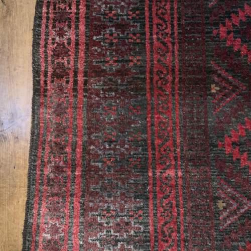 Superb Old Hand Knotted Afghan Rug With Several Abrash Wonderful image-6