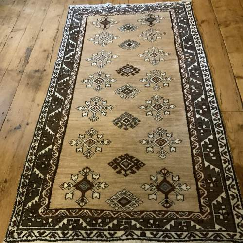 Old Hand Knotted Afghan Village Rug Very Unusual Piece Superb image-1