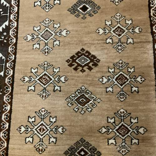 Old Hand Knotted Afghan Village Rug Very Unusual Piece Superb image-2