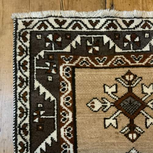 Old Hand Knotted Afghan Village Rug Very Unusual Piece Superb image-3