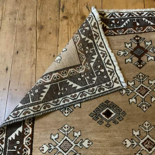 Old Hand Knotted Afghan Village Rug Very Unusual Piece Superb image-4